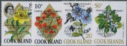 Aitutaki SG78-81 Tenth Anniversary of Treaty Banning Nuclear Testing overprints set of 4